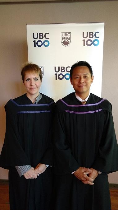 UBC Alumni Reps Beatrice Gill, B.A. & Milton Kiang, B.A., LL.B.