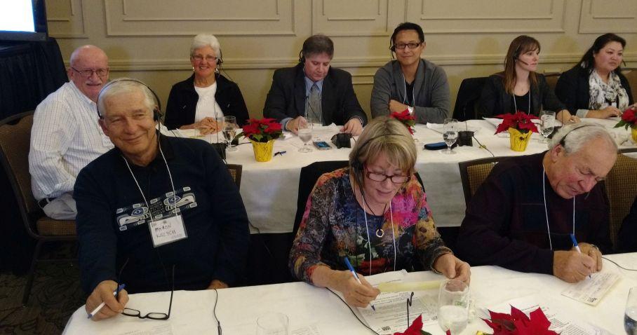 Back row: Gerry Glazier, Marlene Glazier, Rene Georges Abi-Rached, Milton Kiang Front Row: Myron Kuzych, Barbara Welsh, Bill Schulz